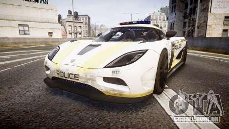 Koenigsegg Agera 2013 Police [EPM] v1.1 PJ2 para GTA 4