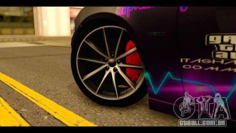 Dodge Charger RT 2015 Hestia para GTA San Andreas traseira esquerda vista