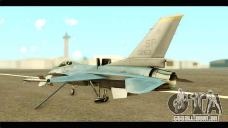 Lockheed Martin F-16C Fighting Falcon Warwolf para GTA San Andreas esquerda vista