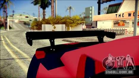 Chevrolet Camaro ZL1 Indonesian Police v2 para GTA San Andreas vista traseira