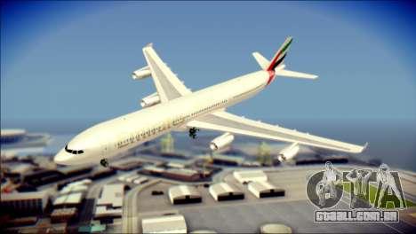 Airbus A340-300 Emirates para GTA San Andreas