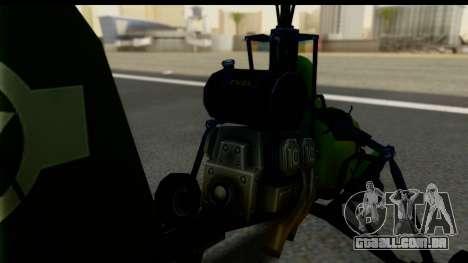 Gyrocopter para GTA San Andreas traseira esquerda vista
