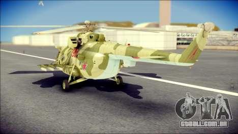 Mi-8 Hip para GTA San Andreas esquerda vista