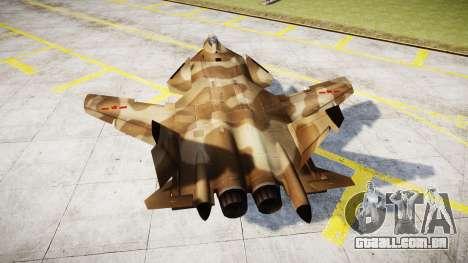 O Su-47 Berkut deserto para GTA 4 traseira esquerda vista