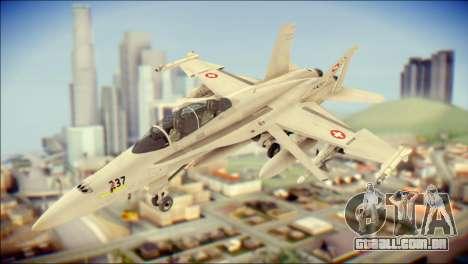 F-18D Swiss Air Force para GTA San Andreas