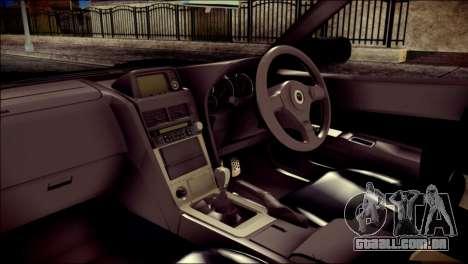 Nissan Skyline GTR V Spec II v2 para GTA San Andreas vista direita