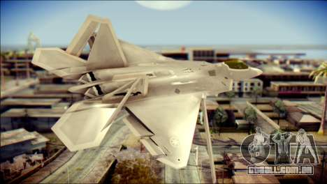 F-22 Gryphus, Falco and Antares para GTA San Andreas esquerda vista
