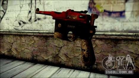 Mauser M1896 Royal Dragon CF para GTA San Andreas segunda tela