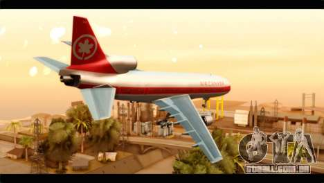 Lookheed L-1011 Air Canada para GTA San Andreas esquerda vista