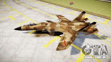 O Su-47 Berkut deserto para GTA 4 esquerda vista