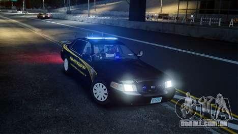Ford Crown Victoria Sheriff LC [ELS] para GTA 4 vista direita