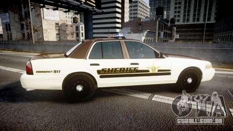 Ford Crown Victoria Liberty Sheriff [ELS] para GTA 4 esquerda vista