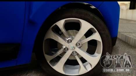 Dacia Lodgy 2014 para GTA San Andreas vista traseira