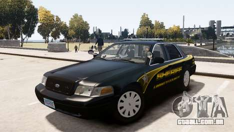 Ford Crown Victoria Sheriff LC [ELS] para GTA 4