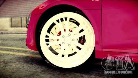 Audi R8 V10 Plus 5.2 FSI 2013 para GTA San Andreas traseira esquerda vista