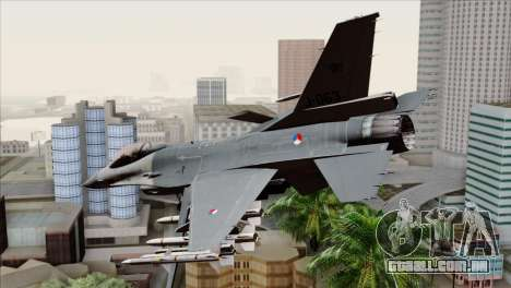 F-16AM Fighting Falcon para GTA San Andreas esquerda vista