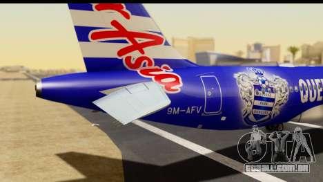 Airbus A320-200 AirAsia Queens Park Rangers para GTA San Andreas vista traseira