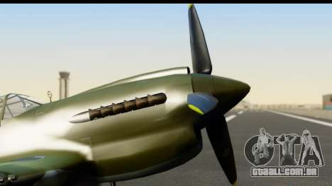 P-40E Kittyhawk IJAAF para GTA San Andreas vista direita