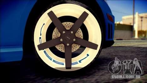 Mercedes-Benz AMG para GTA San Andreas traseira esquerda vista