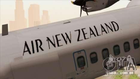 ATR 72-500 Air New Zealand para GTA San Andreas vista traseira