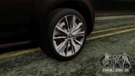 Skoda Octavia Police para GTA San Andreas traseira esquerda vista
