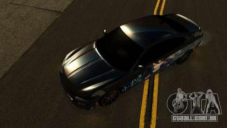 Dodge Charger RT 2015 Sword Art para vista lateral GTA San Andreas