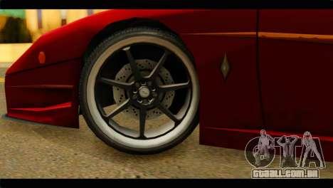 Turismo F40 para GTA San Andreas traseira esquerda vista
