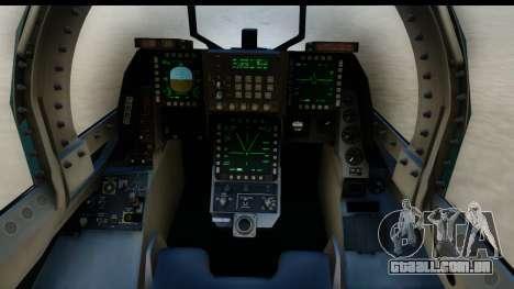 F-2A Viper Blue para GTA San Andreas vista interior