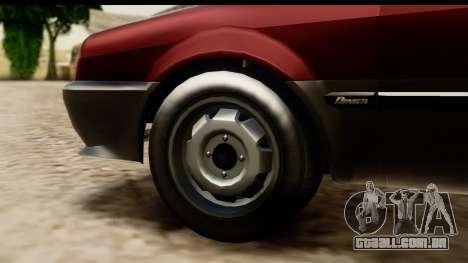 GTA 5 Dinka Blista Compact para GTA San Andreas vista interior