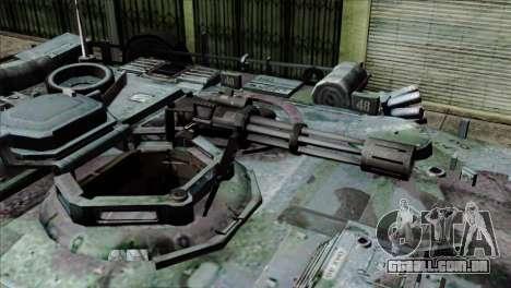 M1A2 Abrams Woodland Blue Camo para GTA San Andreas vista traseira
