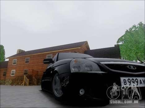 Lada Priora Hatchback para GTA San Andreas vista interior