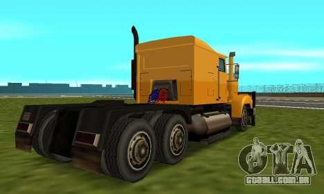 PS2 RoadTrain para GTA San Andreas vista direita