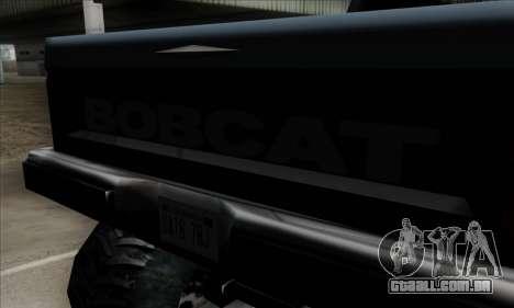Monster Bobcat para GTA San Andreas vista traseira
