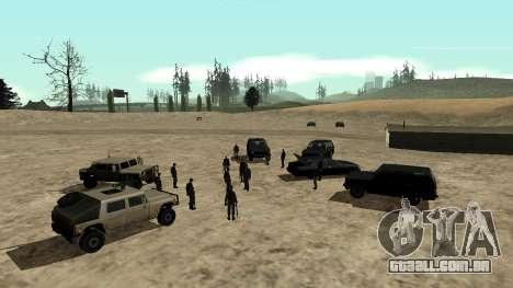 DLC 3.0 Militar atualização para GTA San Andreas segunda tela