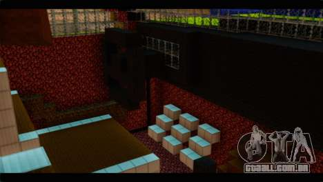 Minecraft Elegant para GTA San Andreas vista direita