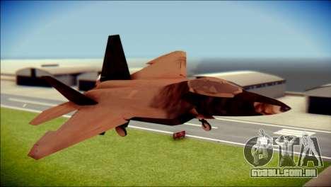 F-22 Raptor G1 Starscream para GTA San Andreas