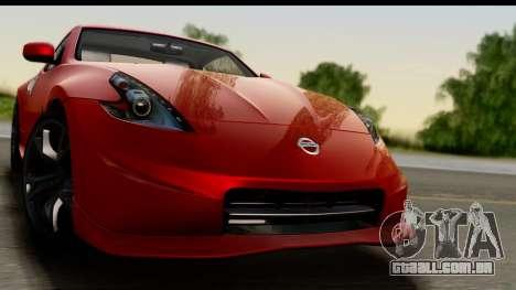 Nissan 370Z Nismo 2010 para GTA San Andreas traseira esquerda vista