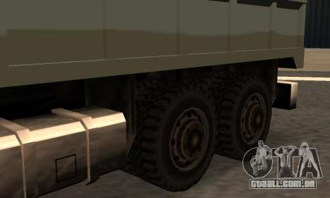 Flatbed Fixed para GTA San Andreas esquerda vista
