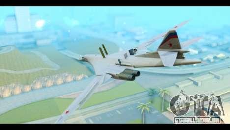 TU-160 Blackjack para GTA San Andreas esquerda vista