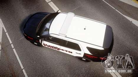 Ford Explorer 2011 Elizabeth Police [ELS] v2 para GTA 4 vista direita