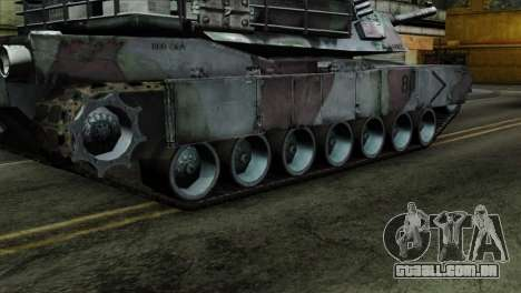 M1A2 Abrams Woodland Blue Camo para GTA San Andreas traseira esquerda vista