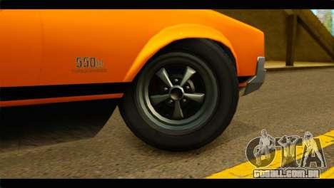 GTA 5 Declasse Sabre GT Turbo IVF para GTA San Andreas traseira esquerda vista