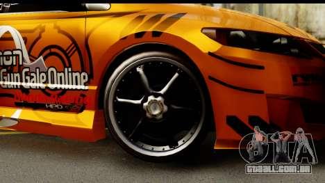 Honda Civic SI Juiced Tuned Shinon Itasha para GTA San Andreas vista traseira