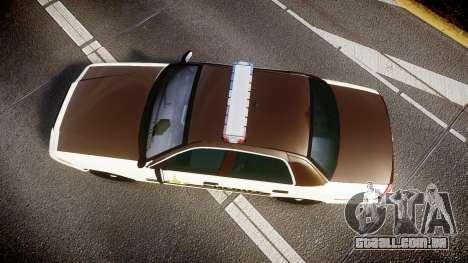 Ford Crown Victoria Liberty Sheriff [ELS] para GTA 4 vista direita