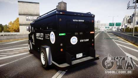 GTA V Brute Police Riot [ELS] skin 2 para GTA 4 traseira esquerda vista