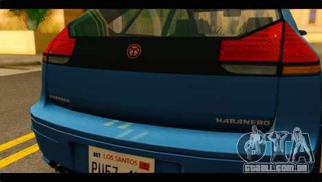 GTA 4 Habanero para GTA San Andreas vista direita