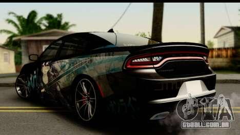 Dodge Charger RT 2015 Sword Art para GTA San Andreas esquerda vista