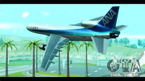 Lookheed L-1011 ANA para GTA San Andreas esquerda vista
