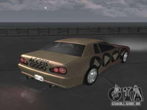 Elegy Paintjobs para GTA San Andreas esquerda vista