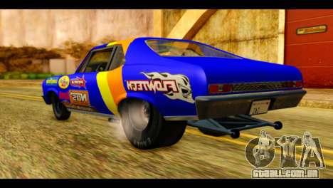 Chevy Nova NOS DRAG para GTA San Andreas esquerda vista